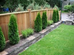 Backyard Fence Ideas Back Yard Fences Best 25 Backyard Fences Ideas On Pinterest