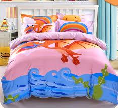 Dinosaur Bedding For Girls by Children Kids Cartoon Dinosaur Cotton 3 4 Bedding Set Twin Queen