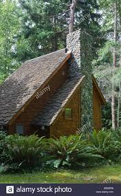 woodland cottage with stone chimney at hedgebrook writer u0027s retreat
