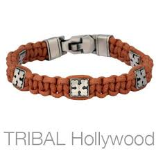 cross cord bracelet images Mens leather jewelry tribal hollywood jpg