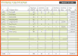 Excel Payroll Calculator Template 5 Payroll Excel Template Survey Template Words