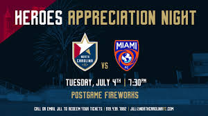 Backyard Bistro Cary Nc North Carolina Fc To Celebrate Heroes Appreciation Night On July 4