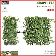 expanding trellis artificial plant garden green wall leaf ivy wood