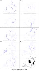 how to draw stella from angry birds printable step by step drawing