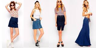 denim skirts what to wear with denim skirt 10 denim skirt