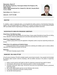 Sample Resume For Ojt Architecture by Ojt Resume 11 Sample For Engineering Students Ixiplay Free