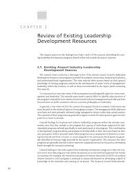 part 1 report of research airport leadership development