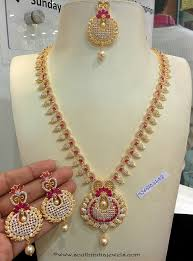 fashion necklace sets images Imitation cz stone ruby necklace set south india jewels jpg