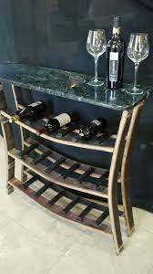 re purposed bistro table and wine rack table stone savvy