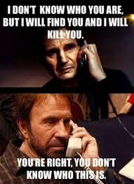 Memes Chuck Norris - neeson vs chuck norris 12 hilarious chuck norris memes ever
