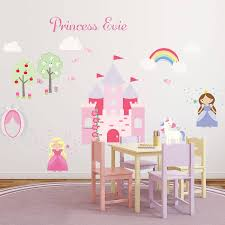 princess wall stickers princess and unicorn fabric wall stickers birthday gifts for children