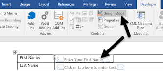 design form in word to create fillable forms in word