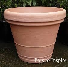 large terracotta italian rota moulded quality plastic pot