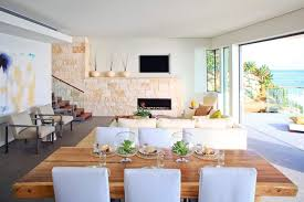 contemporary dining table centerpiece ideas oceanfront laguna ca
