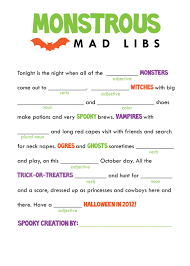 Halloween Activity Sheets And Printables Kids Mad Libs Printable Free Google Search Classroom Party