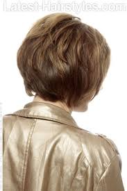 back viewof short shag hairdstyles short shag hairstyle with dimension and highlights back view