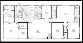 5 Bedroom Manufactured Home Floor Plans Nice Decoration 5 Bedroom Double Wide 6 Doublewide Home Floor