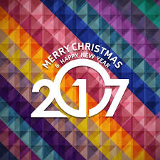 merry christmas happy 2017 abstract background vector