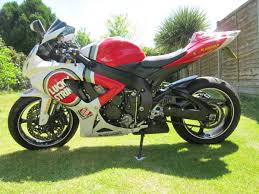 2008 suzuki gsxr 600 k7 red white lucky strike edition 58 plate