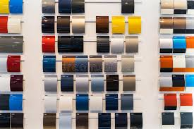 car paint samples stock image image of expensive frame 58708307