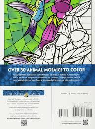 amazon creative haven animal mosaics coloring book