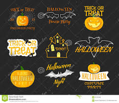 happy halloween funny picture set of vintage happy halloween badges labels stock vector image