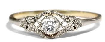verlobungsring vintage antiker verlobungsring diamant ring jugendstil um 1910 solitär