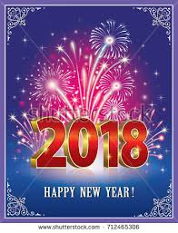 new year post card postcard happy new year 2018 on stock vector 678307195