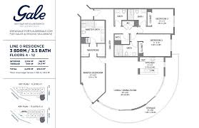 the gale line 0 floor plan 3 bed 3 5 bath floors 4 12