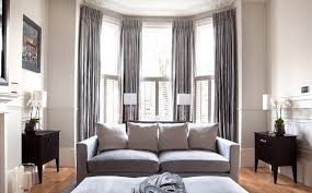 Images Curtains Living Room Inspiration Bay Windows And Grey Curtains Grey Curtains In Panels