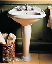 Plumbing For Pedestal Sink How To Plumb A Pedestal Sink Family Handyman