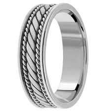 braided band handmade braided wedding band ring for men women platinum