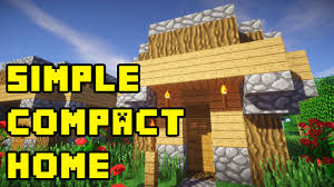 minecraft simple starter compact house build tutorial xbox pe ps3