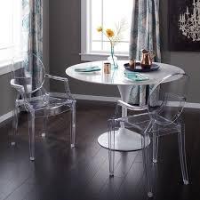 Acrylic Dining Chair Corvus Irene Modern Clear Acrylic Dining Chair With Armrests Set