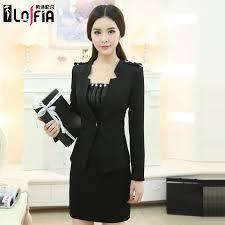 buy spring women wear interview dress skirt suit black suit three