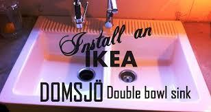 domsjo double bowl sink ikea domsjo farmhouse sink home decor ikea