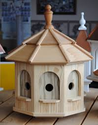large wooden octagon bird house wooden birdhouses and birdfeeders