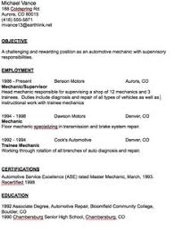 Sample Free Resume by Automotive Mechanic Resume Example Resume Examples Job Resume