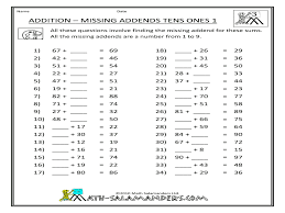 find the missing addend worksheet free worksheets library