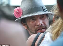 Seeking Jamiroquai Hat Shows His Midriff As He Continues Week Partying