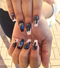 coffin shaped acrylic nails with light elegance titanium gel