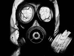 drawn gas mask realistic pencil and in color drawn gas mask