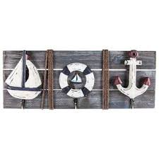 nautical wood wall decor with hooks hobby lobby 563882