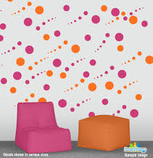 24 pink polka dot wall decals polka dot wall stickers decals for polka dots hot pink and orange circle polka dot wall decal stickers