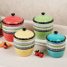 Kitchen Canisters Red Red Kitchen Canisters Ceramic Ideas Gallery Also Sets Images
