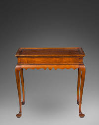 Tiger Maple Furniture Maple Queen Ann Style Tea Table