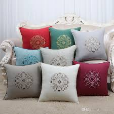 latest embroidery high end cushion covers 17 inch 20 inch 24 inch