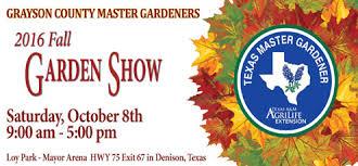 Fall Garden North Texas - grayson county master gardeners to host fall garden show oct 8