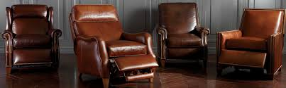 Shop Recliners Leather And Fabric Recliner Chairs Ethan Allen - Leather chairs living room