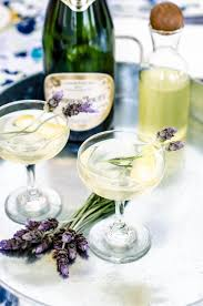 lavender cocktail from the journal a floral soiree lavender u0026amp lemon sparkler